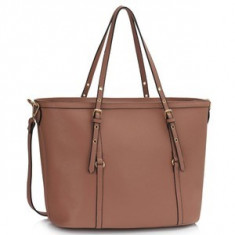 L&S Fashion LS00424 geanta pe umar roz pudrat - Geanta Dama, Geanta de umar