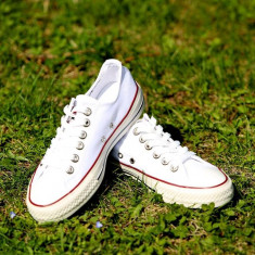 Tenesi Converse All Star alb clasic barbati - Tenisi barbati Converse, Marime: 36, 37, 38, 39, 40, 41, 42, 43, 44, Culoare: Din imagine, Textil