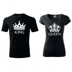 Tricouri Personalizate KING & QUEEN