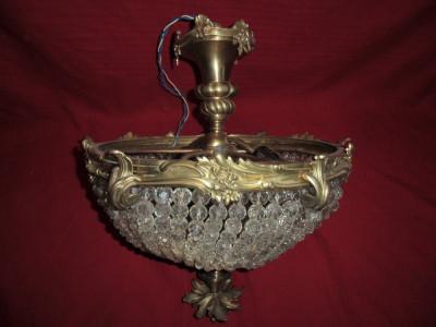 Plafoniera De Tavan : Plafoniera lustra de tavan din bronz si cristal diametru cm