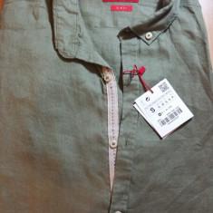Camasa Zara, 100% in, noua - Camasa barbati Zara, Marime: S, Culoare: Khaki