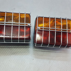 lampa stop cu 3 functi si grilaj de protectie 12v
