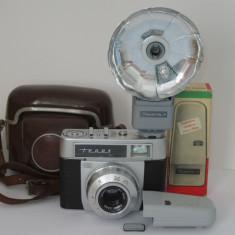 Zeiss Ikon Tenax Automatic Carl Zeiss Tessar 50mm F2.8 + Blitz Zeiss Ikoblitz 4 - Aparate Foto cu Film