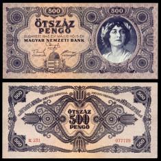 UNGARIA BANCNOTA DE 500 PENGO 1945 UNC NECIRCULATA - bancnota europa
