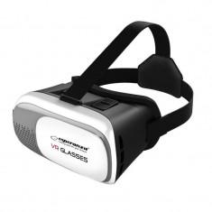 Ochelari VR 3D, smartphone 3.5 -6 inch, Android, iOS, Esperanza, negru