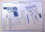 Plansa afis  poster foarte  rar vechi de colectie Carpati pistol