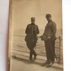 MILITARI-FOTOGRAFIE CU MILITARI ROMANI PE FALEZA CONSTANTA -ANII 20