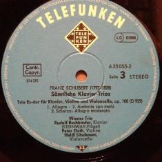SCHUBERT - TRIO PIANO(1977/TELEFUNKEN REC/RFG) - VINIL/Impecabil - Muzica Clasica universal records