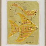 Victor Brauner (1903-1966) - Traces Interstices, cromolitografie originala