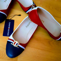 PANTOFI/BALERINI FIRMA TOMMY HILFIGER/NEW MODEL/INTERIOR INSCRIPTIONAT - Balerini dama Tommy Hilfiger, Culoare: Din imagine, Marime: 40