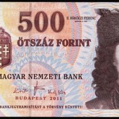UNGARIA BANCNOTA DE 500 FORINT 2011 UNC PRINCIPELE RAKOCZI NECIRCULATA - bancnota europa