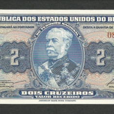 BRAZILIA 2 CRUZEIROS 1954 - 1958 UNC [1] P-151b, necirculata - bancnota america