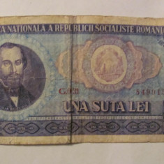 CY - 100 lei 1966 Romania - Bancnota romaneasca