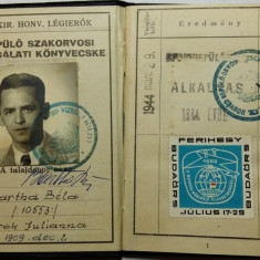 AVIATOR - AVIATIE - AERONAUTICA - AVIATOR SPECIALIST - FORTELE AERIENE - 1944 - Pasaport/Document