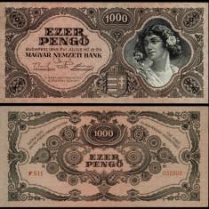 UNGARIA BANCNOTA DE 1000 PENGO 1945 UNC NECIRCULATA