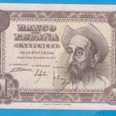 (1) BANCNOTA SPANIA - 1 PESETA 1951 (19 NOIEMBRIE 1951) - STARE FOARTE BUNA