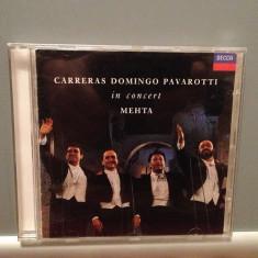 CARRERAS/DOMINGO/PAVAROTTI in CONCERT(1990/DECCA/GERMANY) - CD ORIGINAL/ca Nou - Muzica Clasica decca classics