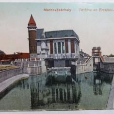 TARGU MURES - TURBINA UZINEI ELECTRICE - INCEPUTUL ANILOR 1900 - Carte Postala Transilvania 1904-1918, Necirculata, Fotografie