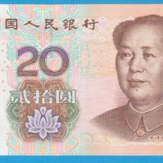 (1) BANCNOTA CHINA - 20 YUAN 2005 - STARE FOARTE BUNA - bancnota asia