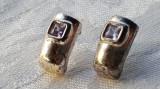 Cercei argint cu Ametist MOV eleganti SUPERBI delicati FINUTI de Efect