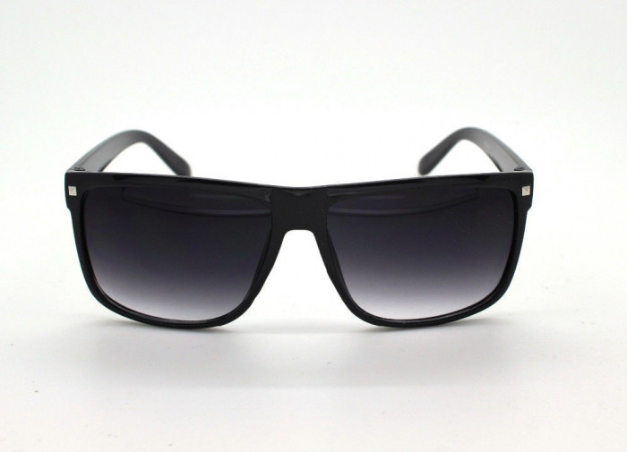Ochelari Soare Retro Style - Unisex , Protectie UV 100% , UV400 - Negri