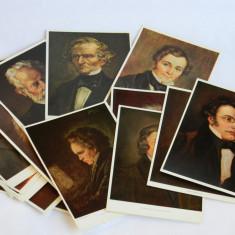 Carte postala / carti postale cu muzicieni 22 de bucati, Germania, Necirculata, Printata