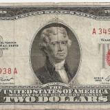 SUA USA 2 DOLARI DOLLARS 1953 F - bancnota america