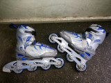 Role,rolere,inline skates,Crazy Creek,roti din silicon,marime reglabila,33-36, 33 - 36, Unisex