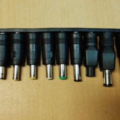 Set, 10 mufe adaptoare jack, curent continuu, pentru Alimentare laptop