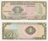 !!! NICARAGUA - 2 CORDOBAS 1972 - P 121 - UNC