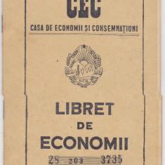Carnet CEC, Libret de Economii - Cambie si Cec