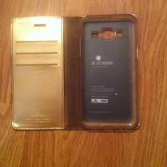 Husa Gold Blue Moon Samsung J5 SM-500FN/DS - Husa Telefon Samsung, Samsung Galaxy J5, Auriu