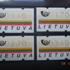 Lituania ATM - uri neuzate. - Timbre straine, Nestampilat