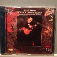 Julian Bream homage to Andres Segovia (1984/RCA/RFG)- CD ORIGINAL/Sigilat/Nou - Muzica Corala rca records