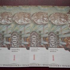 500 lei IANUARIE 1991 UNC - Bancnota romaneasca