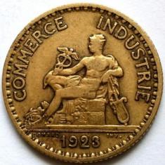 FRANTA, 1 FRANC 1923, ZEUL MERCUR !, Europa, Bronz