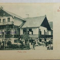 BORSEC POSTA - BORSZEK POSTA VILLA - CLASICA - CIRCULATA - Carte Postala Transilvania pana la 1904, Fotografie