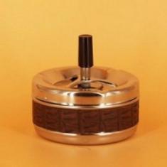 Scrumiera cu capac confectionata din metal. SCR022