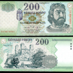 UNGARIA BANCNOTA DE 200 FORINT 2006 UNC REGELE KAROLY ROBERT NECIRCULATA - bancnota europa