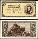 UNGARIA 1.000.000 MIL PENGO UN MILION DE MILIOANE PENGHEI 1946 UNC NECIRCULATA