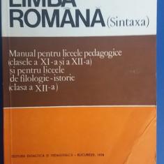 MCCG - LIMBA ROMANA - SINTAXA - Manual scolar, Clasa 12