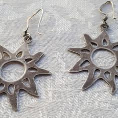 Cercei argint SOARE delicati FINUTI executati manual VECHI delicati de Efect