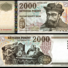 UNGARIA BANCNOTA DE 2000 FORINT 2004 UNC PRINCIPELE BETHLEN GABOR NECIRCULATA - bancnota europa