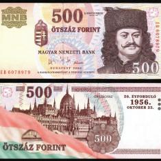 UNGARIA BANCNOTA DE 500 FORINT 2006 UNC JUBILIARA REVOLUTIA 1956 NECIRCULATA - bancnota europa