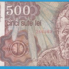(1) BANCNOTA ROMANIA - 500 LEI 1991, IANUARIE - VARIANTA MAI RARA - Bancnota romaneasca