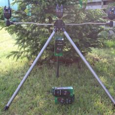 Stativ Tripod Suport Telescopic Pentru 3 Lansete + 3 Senzori Avertizori FL - Rod pod