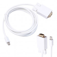 Cablu adaptor Mini DisplayPort - VGA 1080p macbook thunderbolt convertor Full HD - Adaptor laptop