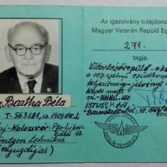 AVIATOR - AVIATIE - CARNET DE VETERAN AL AVIATIEI - Pasaport/Document