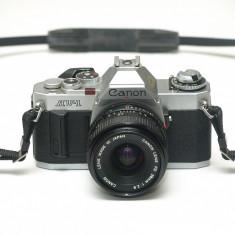 Canon AV-1 + 28mm 2.8 - Aparat Foto cu Film Canon