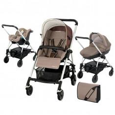 Carucior Bebeconfort Streeyy Plus 3 in 1 - Carucior copii 3 in 1 Bebe Confort, Maro